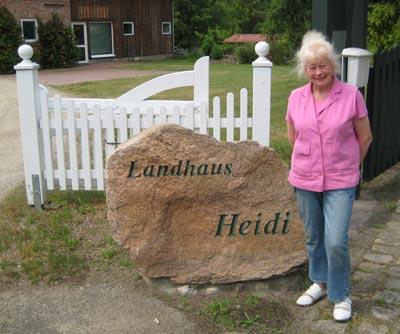 Landhaus Heidi - Ferienwohnungen im Wendland - Ihre Gastgeberin
